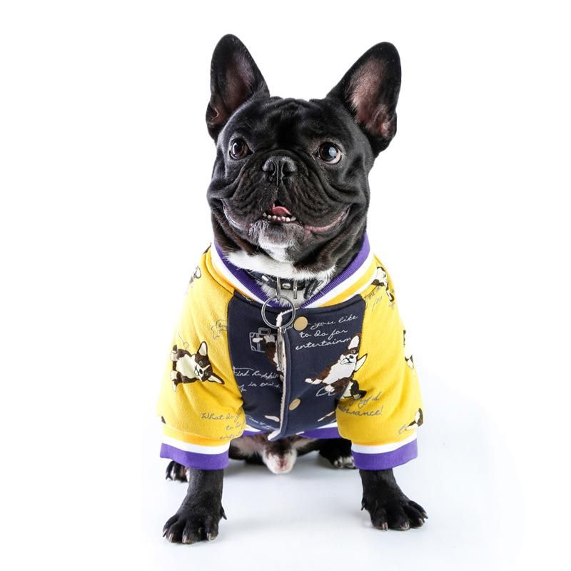 Varsity Winter Jacket Pugs In Costume French Bulldog Clothes