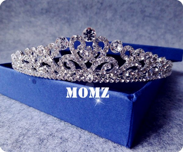 Blingbling!!! Bridal Wedding High Quality Silver Plated Crystal Rhinestone Wave Veil Tiaras Prom Shinning Party Crowns-in Hair Jewelry from Jewelry on Aliexpress.com