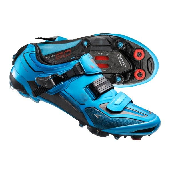 Shimano Sh Xc90b Custom Fit Cycling Shoes Blue Cycling Shoes