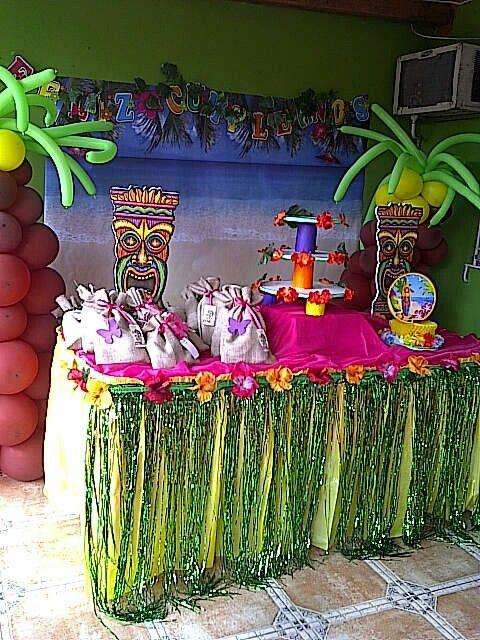 Fiesta hawaiana ideas para manualidades fiesta - Ideas decoracion fiestas ...