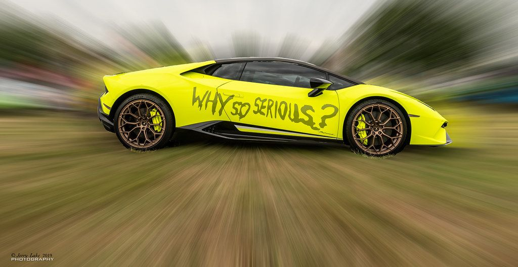 "Why So Serious ""Lamborghini in amazing colours I believe... -"