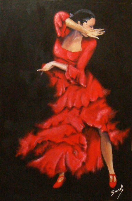 tableau peinture danseuse flamenco flamenco pinterest. Black Bedroom Furniture Sets. Home Design Ideas