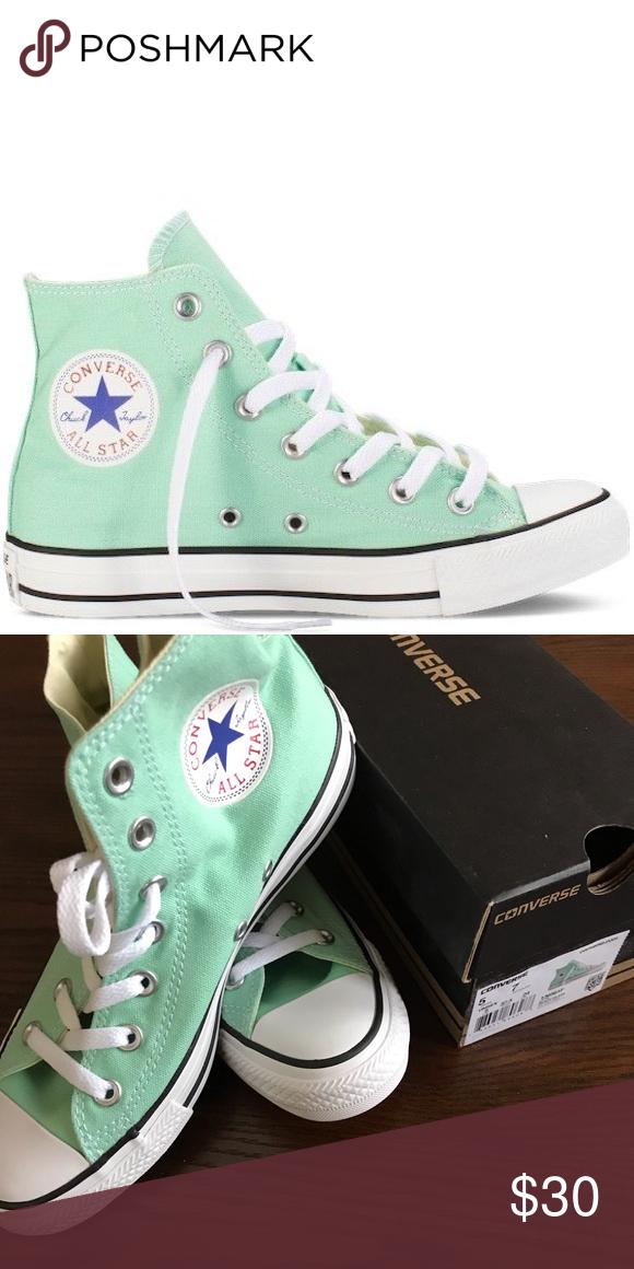 Mint Green Converse High Top All Stars