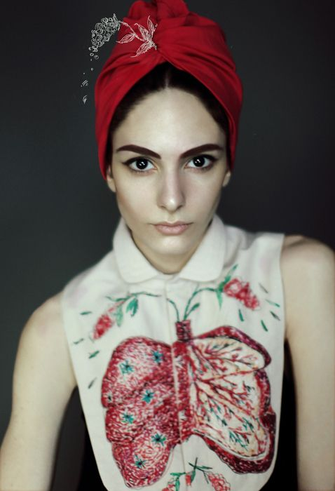 Embroidered fashion by Designers Nastya Klimova & Liza Smirnova. Photography by Segina Kseniya.