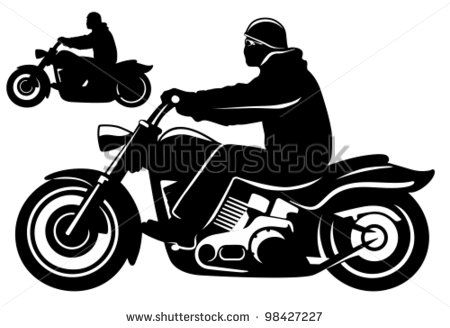 Motorcycle Rider Stock Vector With Images Biker Art