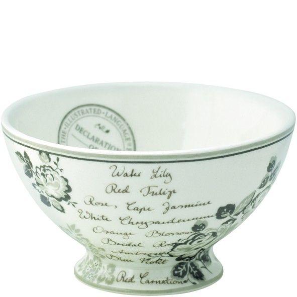 GreenGate Stoneware Soup Bowl Dora White D 15 cm
