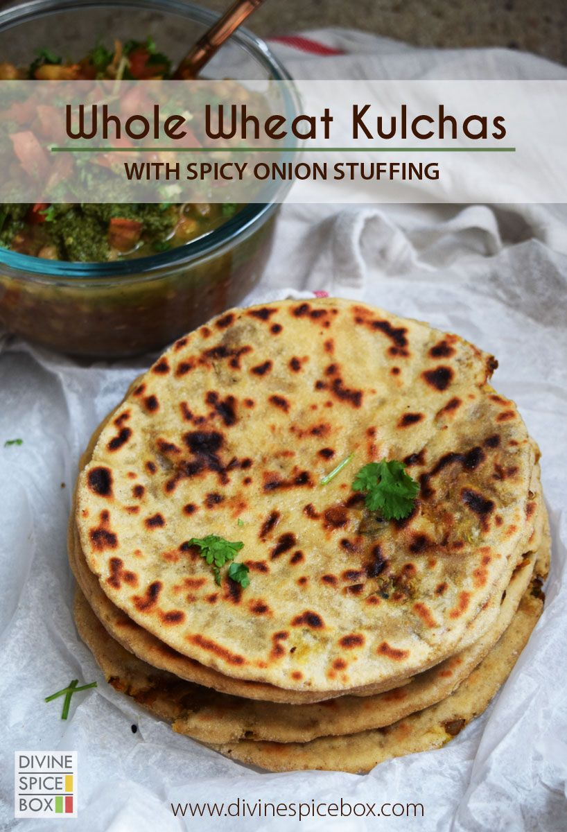 Whole Wheat Kulchas with Onion Stuffing | Cooking recipes ...