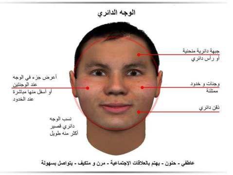 الوجه البيضاوي Face Reading Body Language Psychology