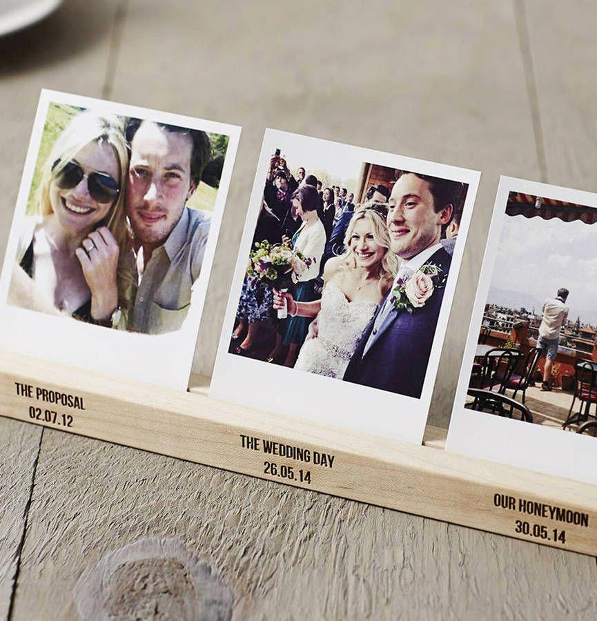 Personalised Wedding Timeline Photo Block