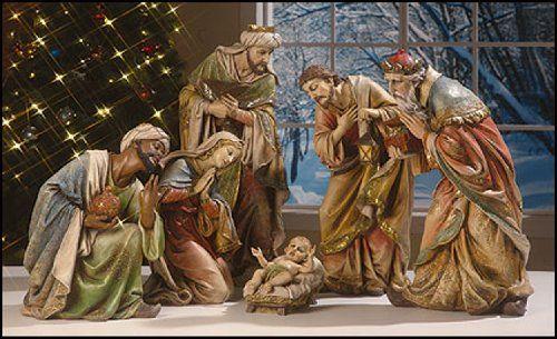 Indoor Outdoor 27 Inch 6 Piece Church Size Nativity Set Resin Fiberglass Scene Cb Http Www Amazon Com Dp B Nativity Set Nativity Scene Sets Christmas Scene