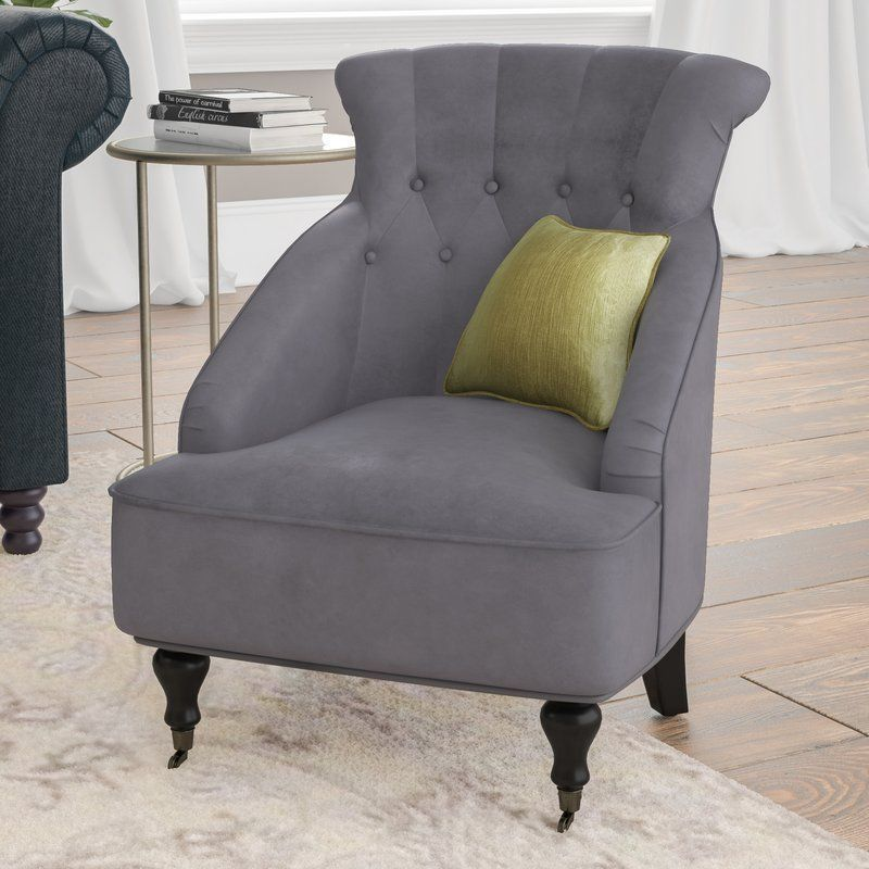 Grey Velvet Armchair Foam Fabric Polyester Solid Wooden Living Entrancing Wooden Living Room Chairs Decorating Inspiration