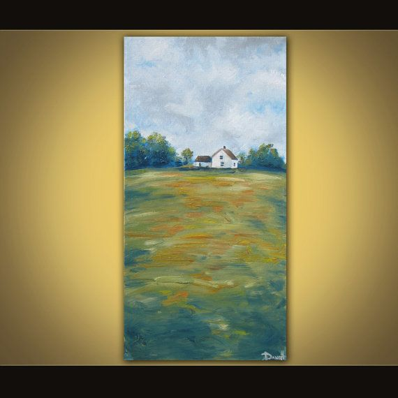 Field oil painting on canvas great GIFT by danlyespaintings, $129.99