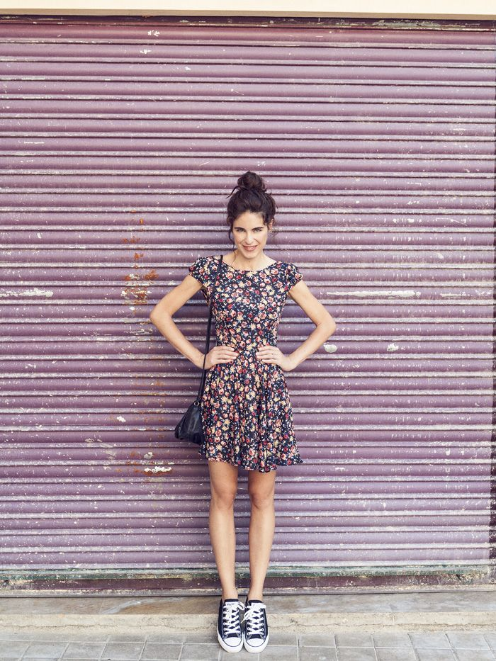 dress and converse | Dress with converse, Girly outfits, Fashion