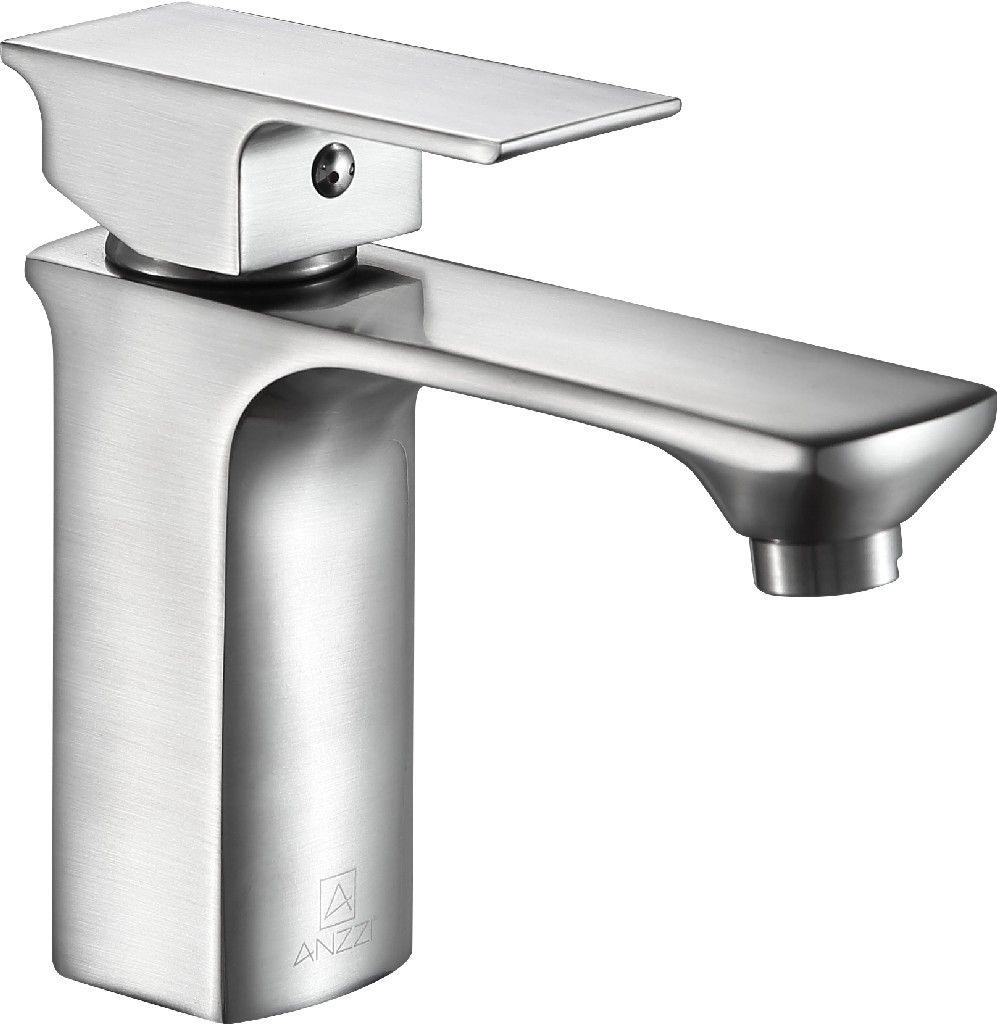 Photo of Promenade Single Hole Single Handle Bathroom Faucet in Brushed Nickel – ANZZI L-AZ118BN