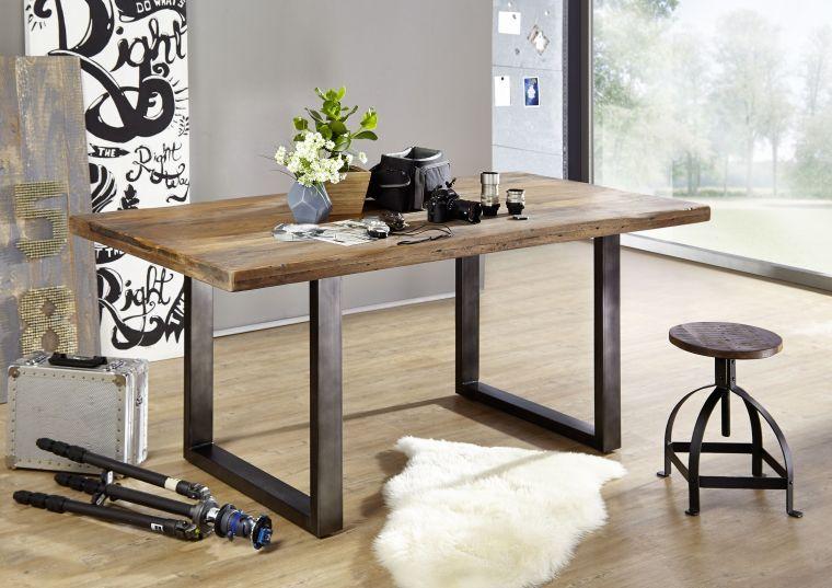 Tavolino da pranzo in legno verniciato 180x90x76 RAILWAY