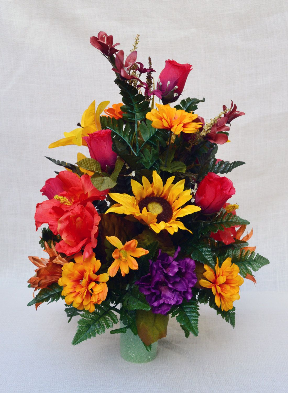 No Fc907 Fall Cemetery Arrangement Cone Arrangement Grave Tombstone Arrangement Cemetery Flowers Cemetery Flowers Memorial Flowers Artificial Flower Arrangements
