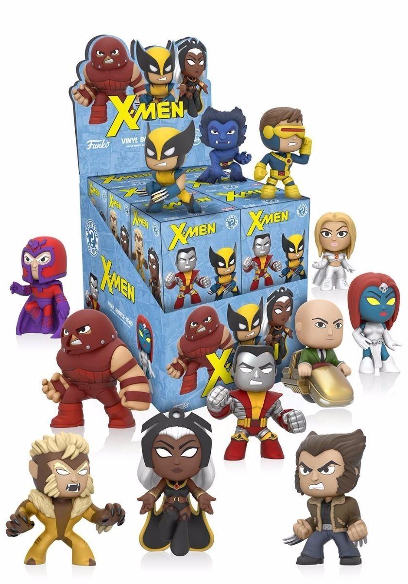 New Action- & Spielfiguren X-Men Mystery Mini Mini-Figure Series 1 Hot Topic Variant Display Case