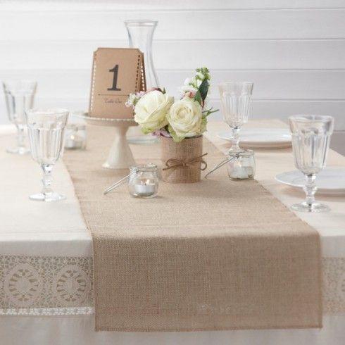 1~5x Sackleinen Tischläufer Tischband 30cm breit Rolle Jute natur Hochzeit Deko