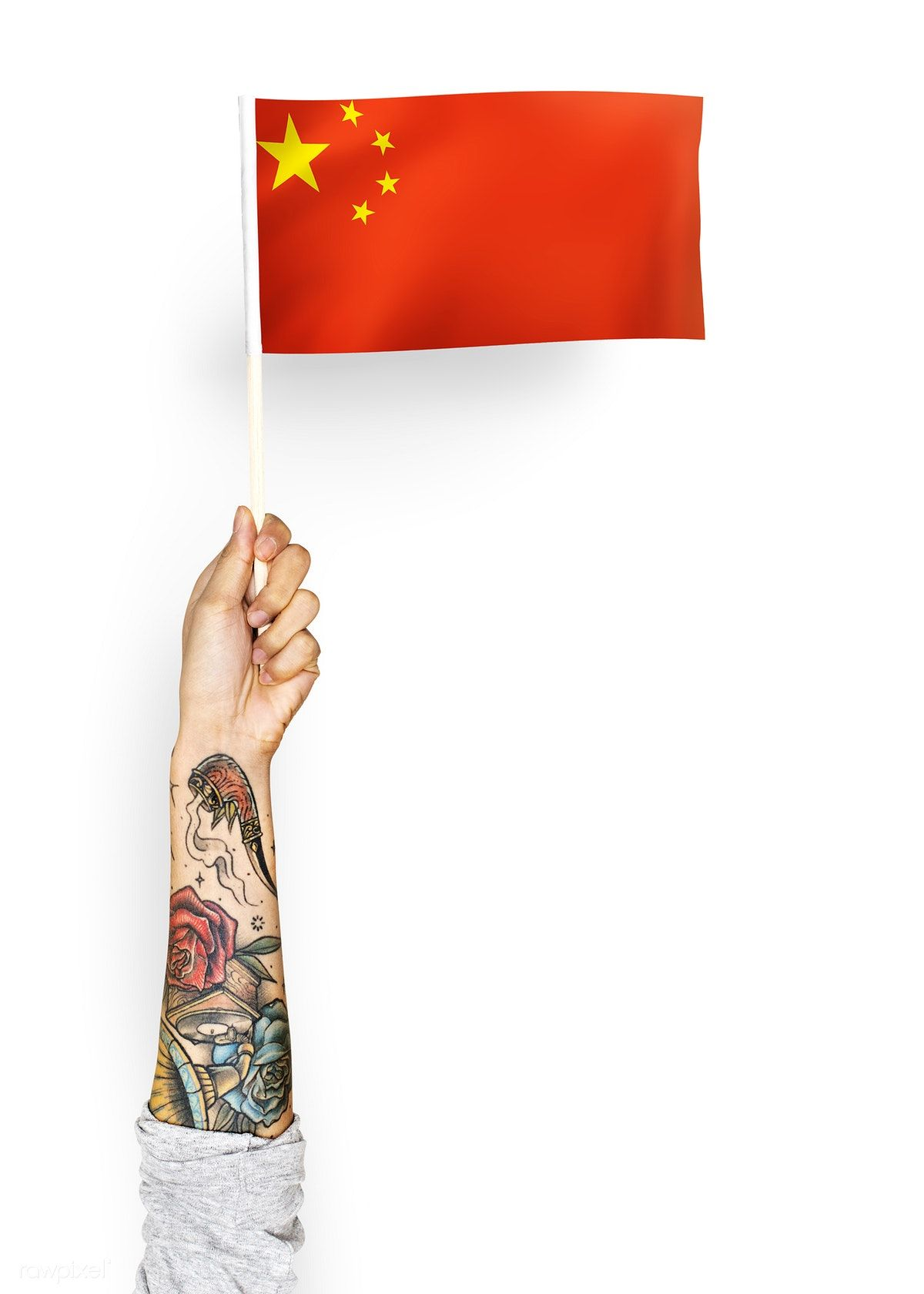 Person Waving The Flag Of The People 39 S Republic Of China Free Image By Rawpixel Com ม ร ปภาพ