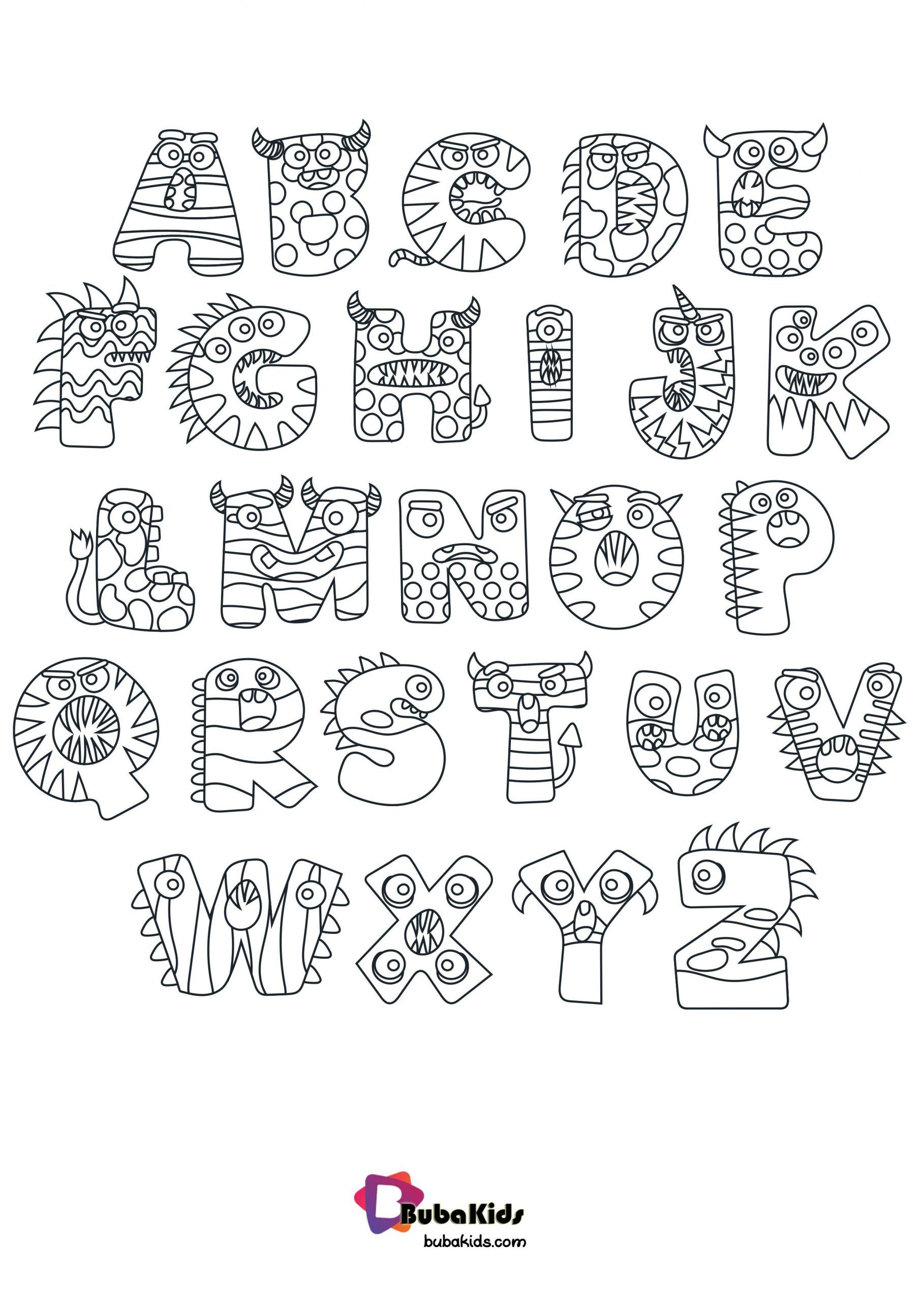 Halloween Alphabet Coloring Pages In 2020 Alphabet Coloring Alphabet Coloring Pages Free Halloween Coloring Pages