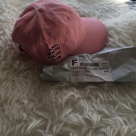 4cf2f12a5c4d1 Anti social Social Club hat 100% authentic antisocial social club pink  weird cap. never worn