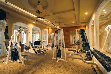 Varney residence traditional home gym las vegas richard luke