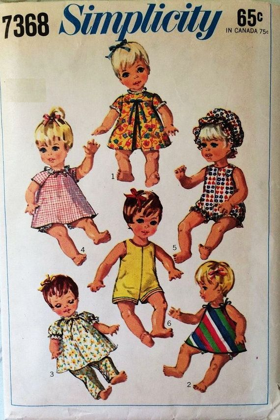 Patron vintage pour faire des vêtements de poupées une garde-robe de ...