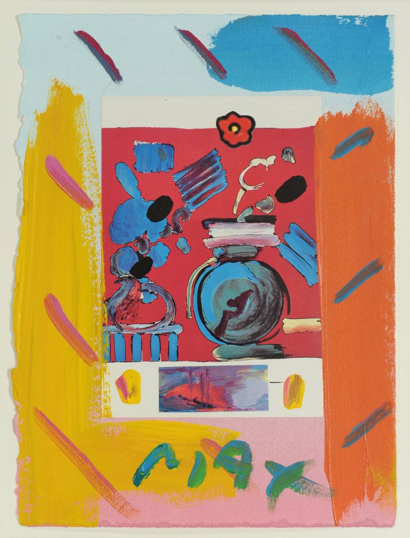 Peter Max (German/American, b. 1937) mixed media collage ...