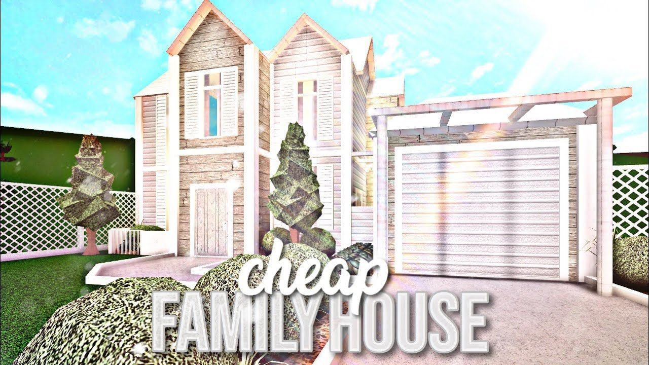 Bloxburg Cheap Family House Youtube Family House Family