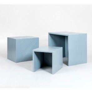kimidori 45° Satztisch Mono. Zwei Farben. #kimidori45 #pallet #furniture #upcycling #palettenmoebel #Satztisch #Beistelltisch #Couchtisch www.kimidori.de