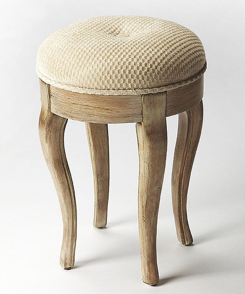 Butler specialty company gray tufted vanity stool vanity