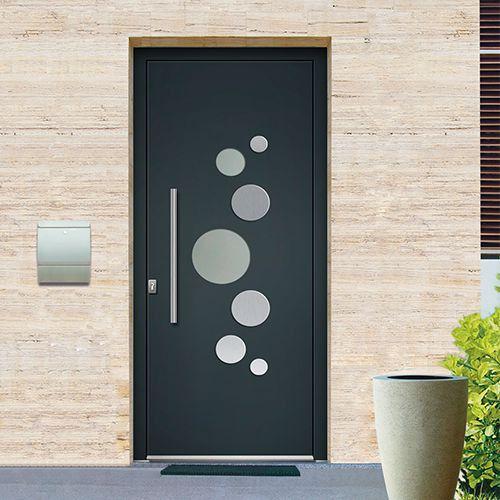 Porte D'Entrée Monobloc Aluminium Emalu Miami. Disponible En Gris Ou