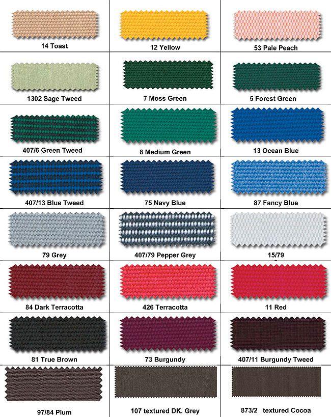 Para Acrylic Awning Fabrics Custom Window Treatments
