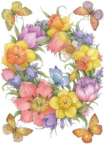 Fiori Con D.Laminas Y Trabajos Con Flores Pag 33 Aprender Manualidades