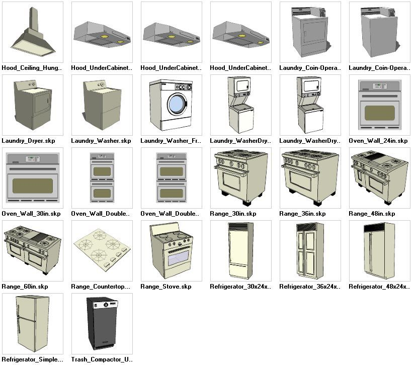 sketchup appliances 3d models download � cad design free