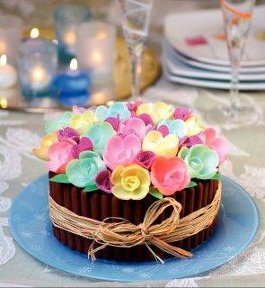 gateau fleurs ait ali recettes sucr es pinterest gateau anniversaire recette gateau. Black Bedroom Furniture Sets. Home Design Ideas