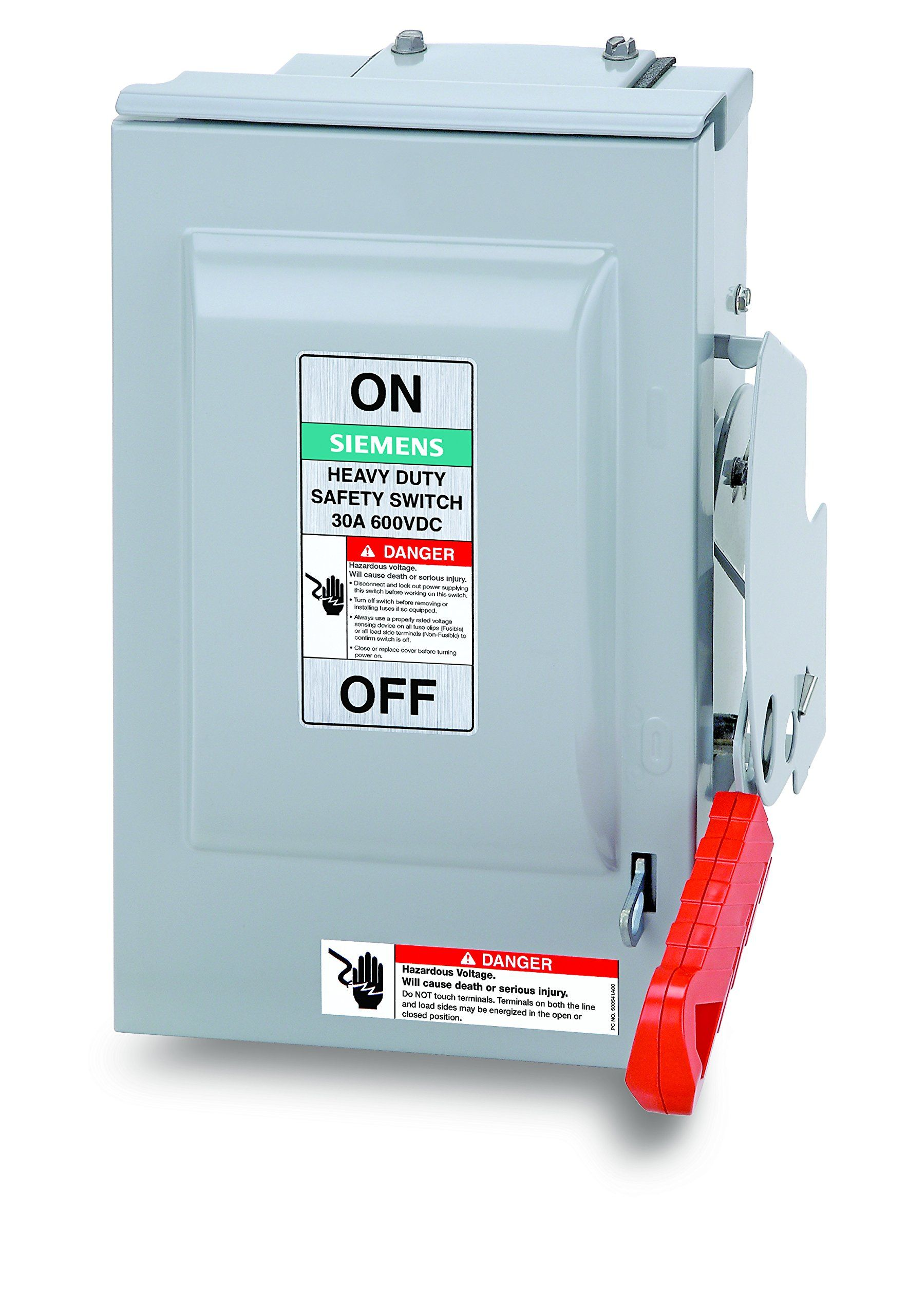 Siemens Us2 Hnf361rpv 30amp 3 Pole 600volt Dc Pv 3 Wire N Fused Heavy Duty Safety Switches Read More At The Image Link This Safety Switch Switches Siemens