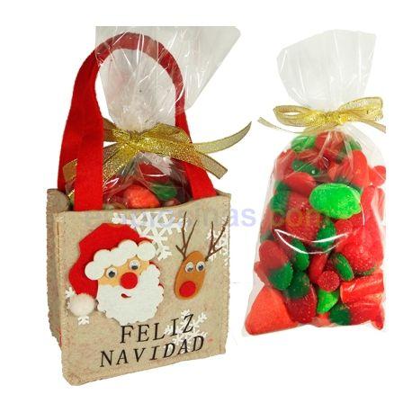 Es una bolsa de papa noel de fieltro con 350gr chuches - Regalo navidad padre ...