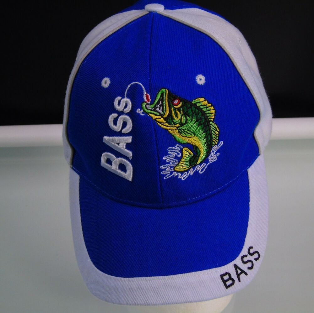 Details about bass fishing fisherman cap one size