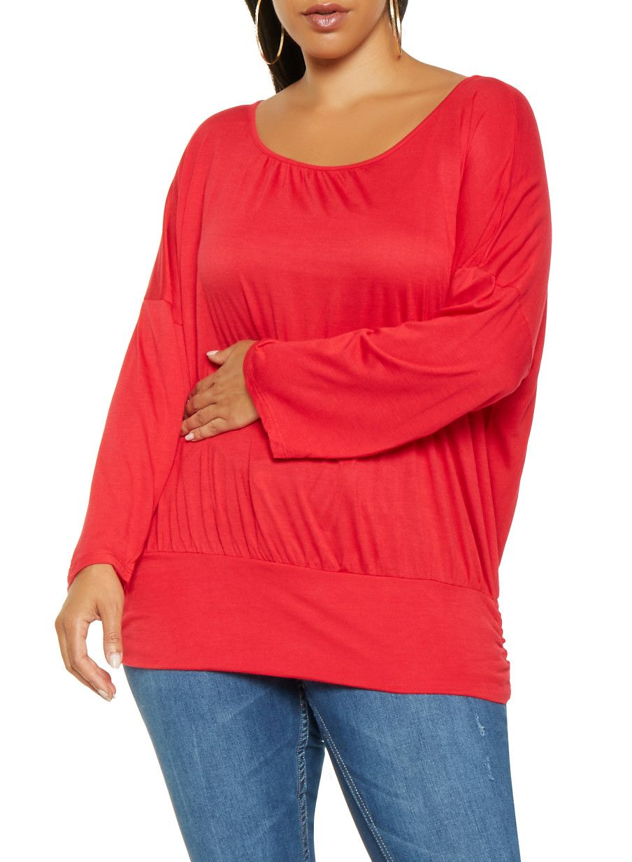 1a6630f139761d Plus Size Dolman Sleeve Top | Products | Sleeves, Tops, Tunic tops