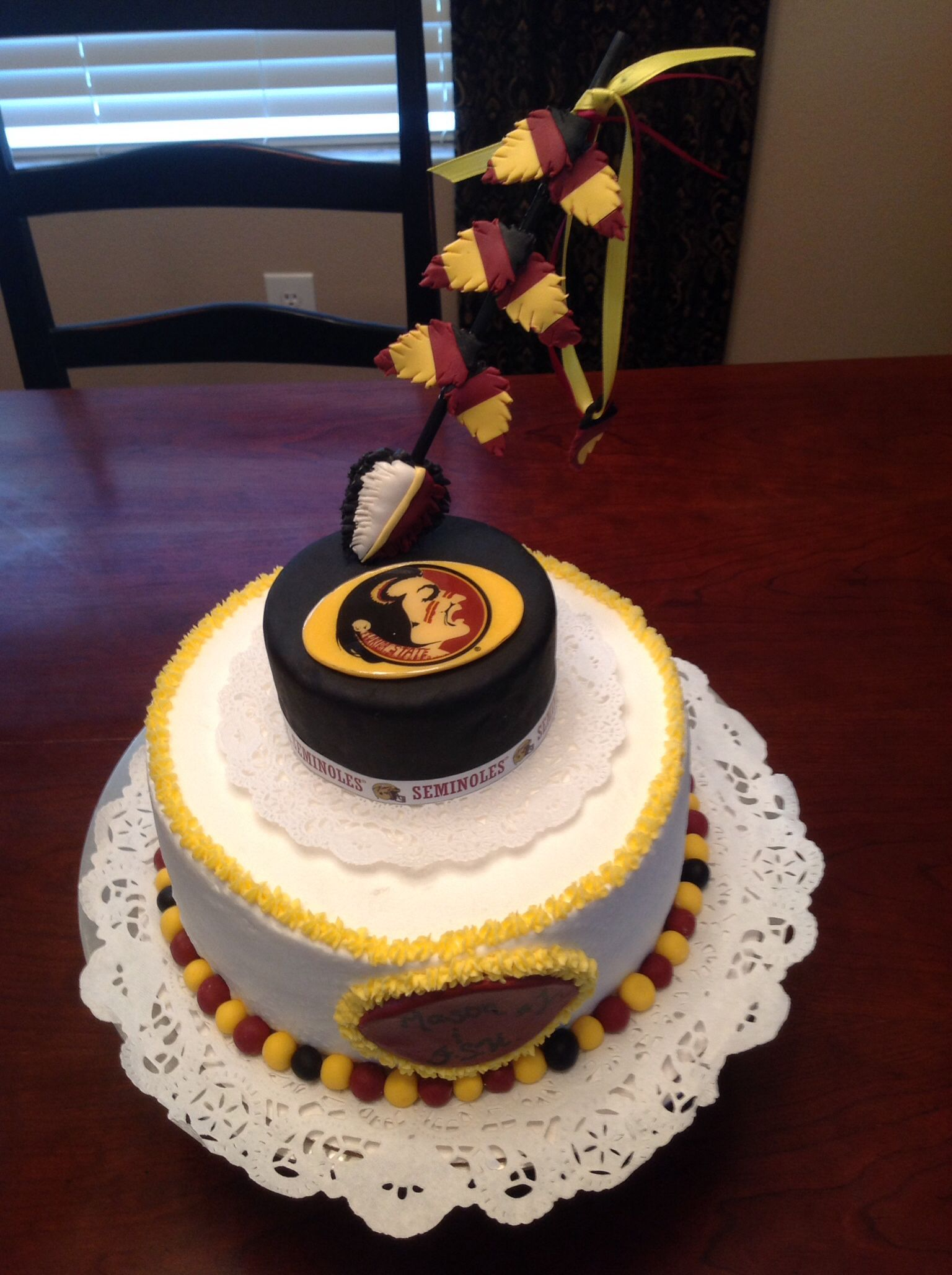 Fsu Themed Cake Birthday Cake Game Day Cake Buttercream With