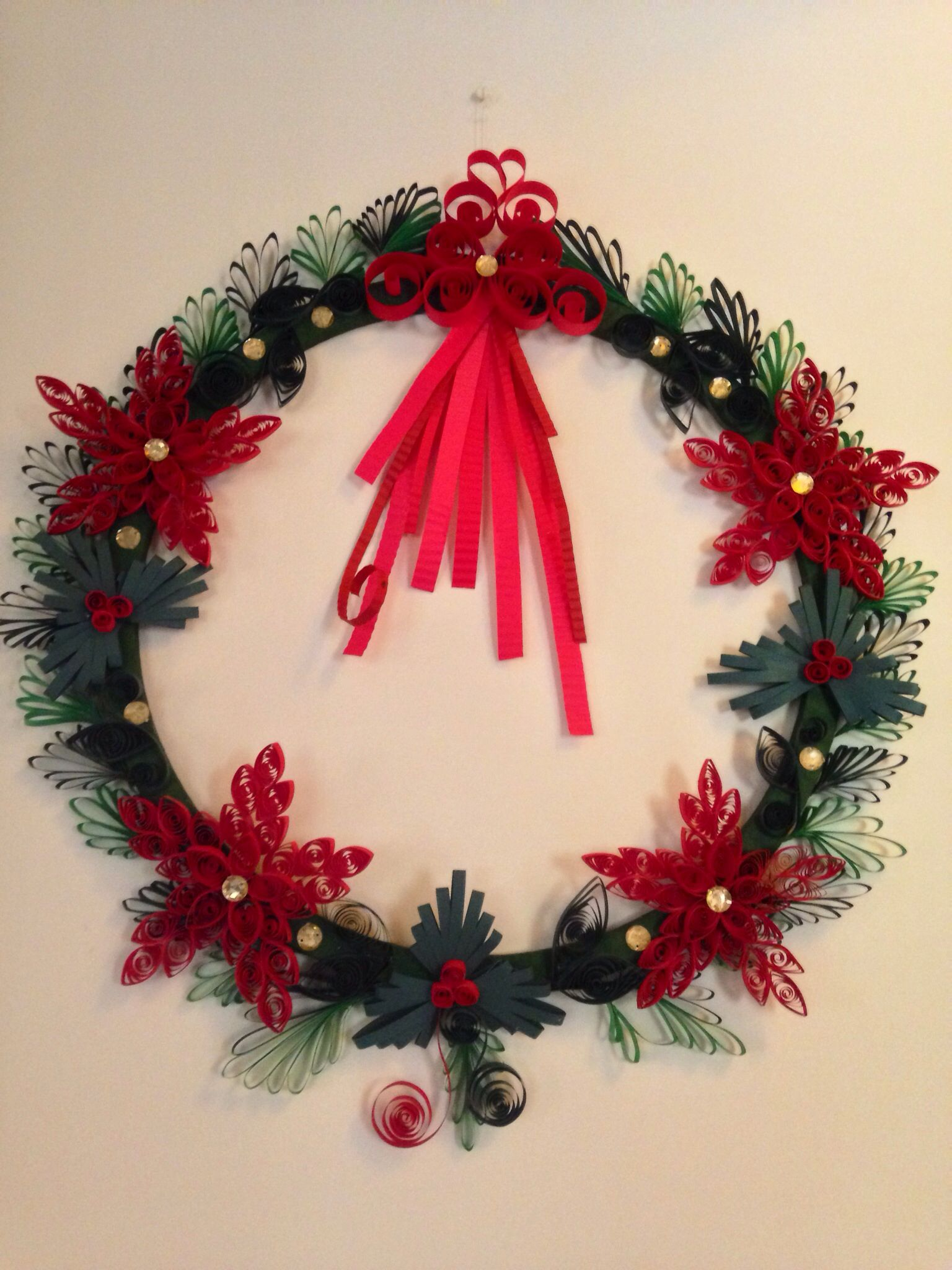 Quilled christmas wreath Quilled Wreaths Pinterest