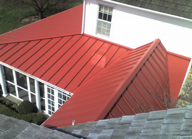 Check Out This Modern New Look We Gave To This Home Metal Roofing Is Beautiful And Durable Ableroof Metalroof Residential Metal Roofing Metal Roof Roofing