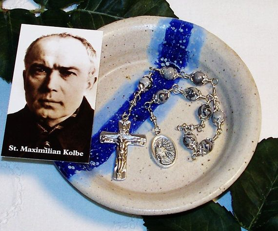 Unbreakable Niner Chaplet of St. Maximillian by foodforthesoul, $21.95