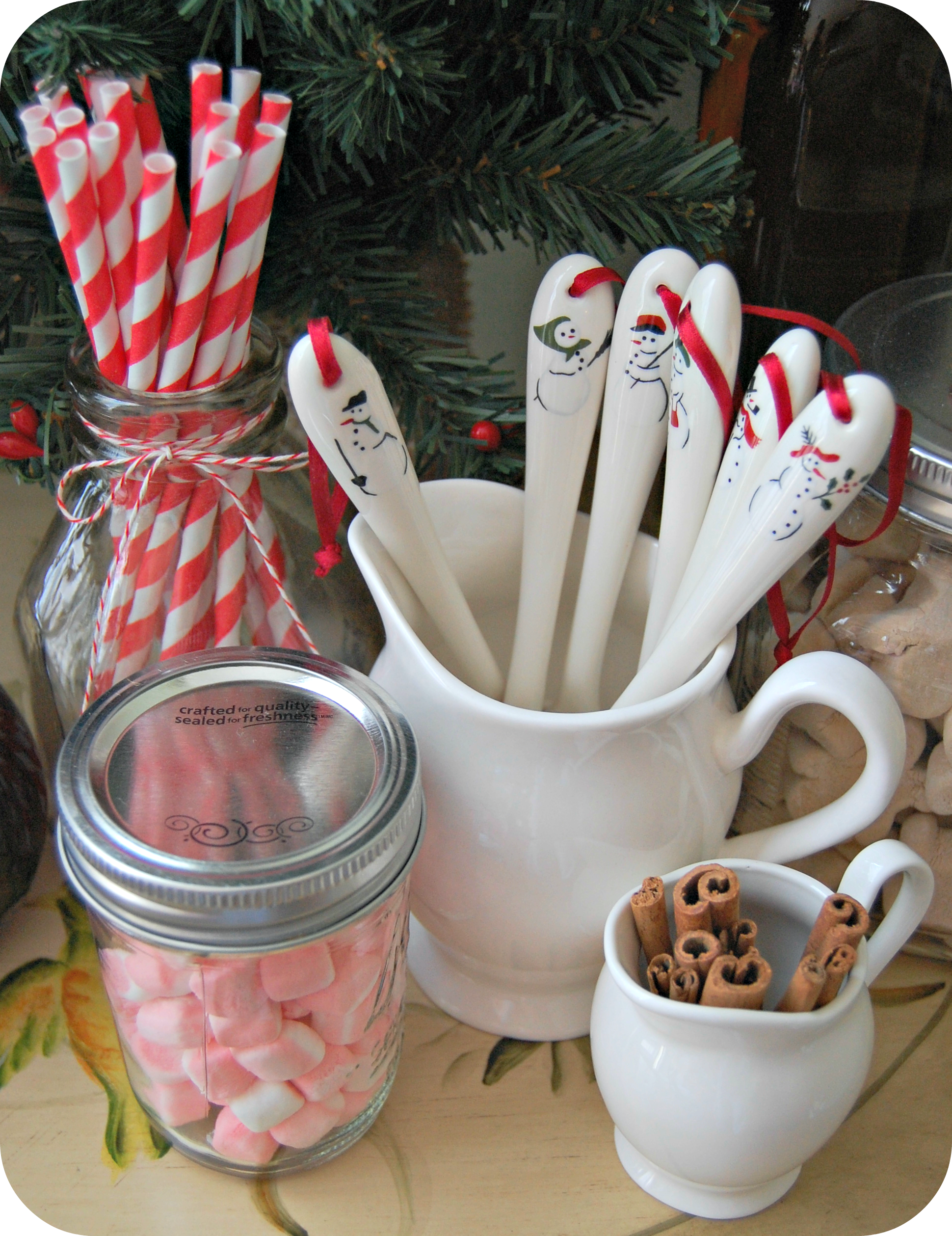 Winter Hot Cocoa Bar #flavoredmarshmallows