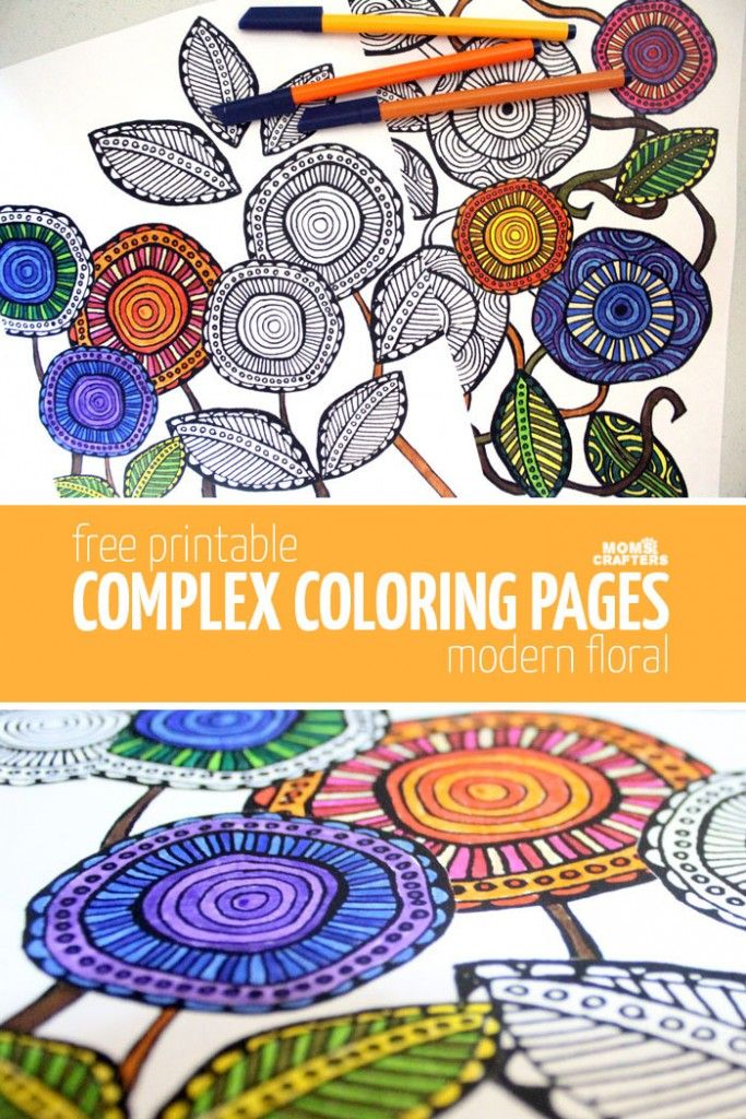 Free Printable Adult Coloring Pages Modern Floral By Katie Smith