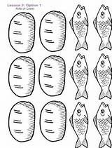 It's just a graphic of Slobbery Free Bible Coloring Pages Loaves And Fishes