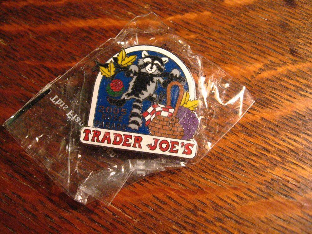 Trader Joe\'s Lapel Pin - 2005 Rose Bowl Parade Joes Raccoon Football ...