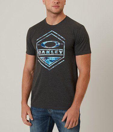 Oakley Camo Hex T-Shirt - Men's T-Shirts in Jet Black Heather
