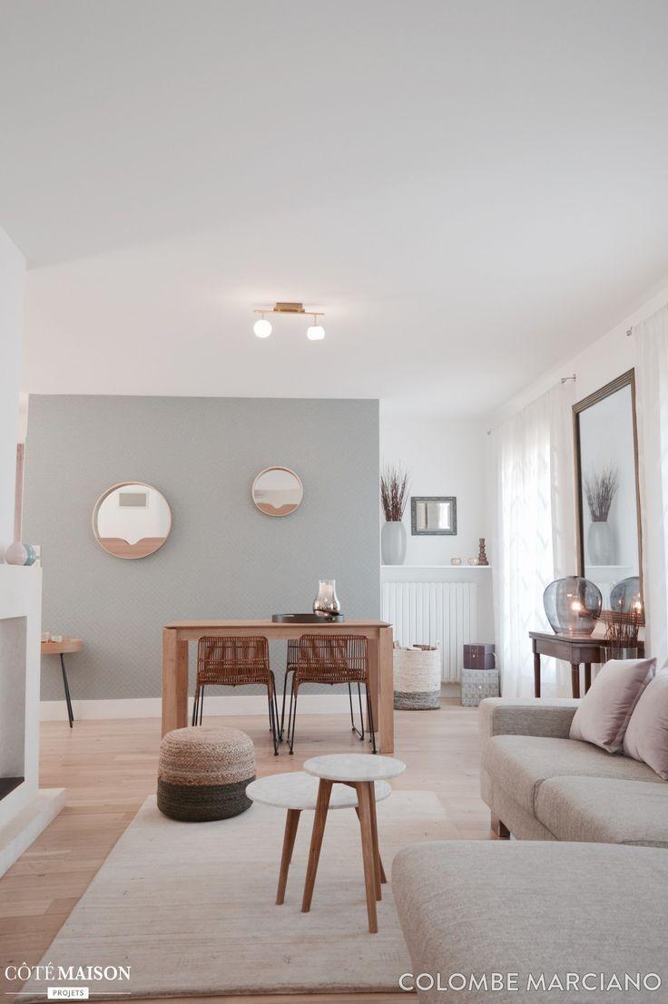Alliance Réussie Pour Le Mariage De Lancien Et Du Contemporain L - Deco salon salle a manger gris pour idees de deco de cuisine